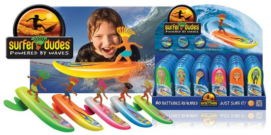 1 CARTON 24 SURFER DUDES + DISPLAY,