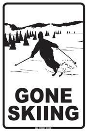 PLAQUE GONE SKIING