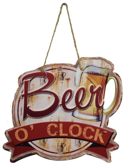 Plaque beer O clock
