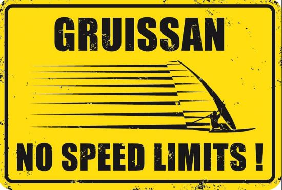 PLAQUE GRUISSAN NO SPEED LIMITS