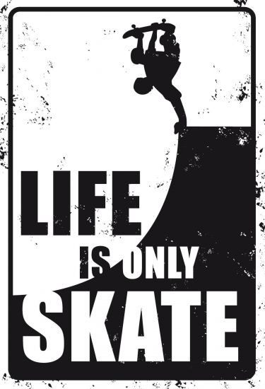 PLAQUE LIFE IS ONLY SKATE
