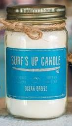 BOUGIE SURF S UP CANDLE  MASON JAR OCEAN BREEZE 445 gr