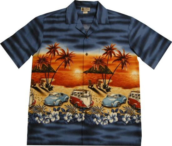 Chemise Aloha Republic Surf Beach Blue