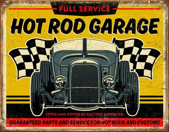 PLAQUE HOT ROD GARAGE