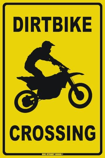 PLAQUE DIRT BIKE