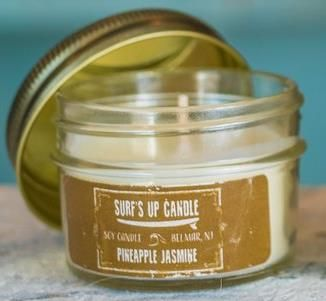 BOUGIE SURF S UP CANDLE  MASON JAR PINEAPPLE JASMIN 110 gr