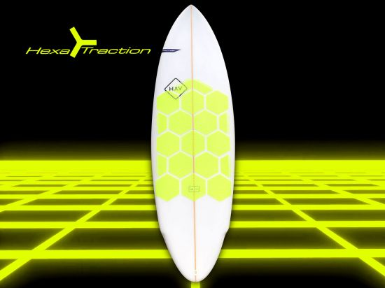 GRIP SURF/SUP HEXA TRACTION JAUNE FLUO