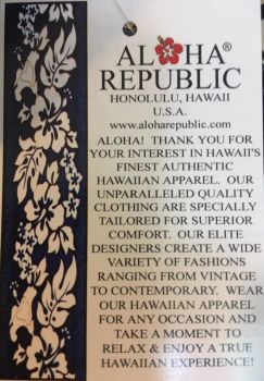 CHEMISE HAWAIENNE  ALOHA REPUBLIC FLOWER POWER